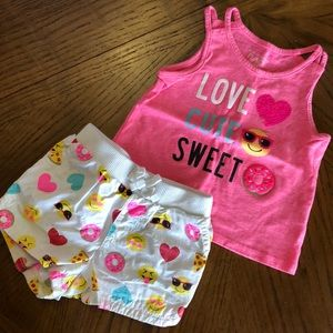 Emoji outfit for girls